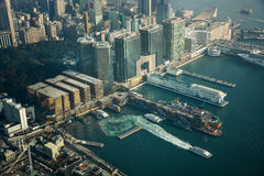 Άποψη Χονγκ Κονγκ από ICC Sky100 Στοκ φωτογραφίες με δικαίωμα ελεύθερης χρήσης