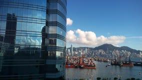 Άποψη Χονγκ Κονγκ harber Στοκ εικόνα με δικαίωμα ελεύθερης χρήσης