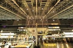 Άποψη Χριστουγέννων ΠΟΛΕΩΝ ΣΤΑΘΜΩΝ της ΟΖΑΚΑ lightsfont Στοκ Εικόνα
