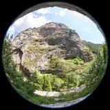 Άποψη ψάρι-ματιών του βουνού στα βουνά Rhodope, Βουλγαρία Στοκ φωτογραφία με δικαίωμα ελεύθερης χρήσης