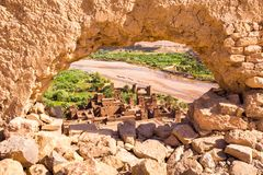 Άποψη Ait Benhaddou Kasbah, Ait Ben Haddou, Ouarzazate, Μαρόκο Στοκ Εικόνες