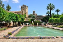 Άποψη Alcazar και του μουσουλμανικού τεμένους καθεδρικών ναών της Κόρδοβα, Ισπανία Στοκ φωτογραφίες με δικαίωμα ελεύθερης χρήσης
