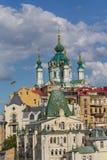Άποψη Andrew& x27 εκκλησία του s και οδός Andrew& x27 κάθοδος του s Κίεβο στοκ εικόνες με δικαίωμα ελεύθερης χρήσης