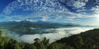 Άποψη Annapurna Στοκ Φωτογραφίες
