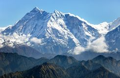 Άποψη Annapurna Himal από το πέρασμα Jaljala - Νεπάλ Στοκ Εικόνες