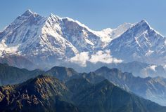 Άποψη Annapurna Himal από το πέρασμα Jaljala - Νεπάλ Στοκ φωτογραφία με δικαίωμα ελεύθερης χρήσης
