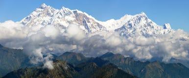Άποψη Annapurna Himal από το πέρασμα Jaljala Στοκ φωτογραφίες με δικαίωμα ελεύθερης χρήσης