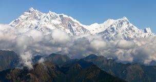Άποψη Annapurna Himal από το πέρασμα Jaljala Στοκ εικόνα με δικαίωμα ελεύθερης χρήσης