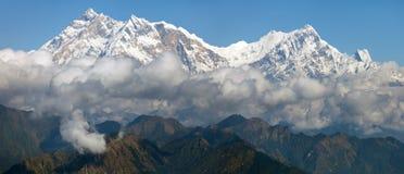 Άποψη Annapurna Himal - του Νεπάλ - της Ασίας Στοκ φωτογραφίες με δικαίωμα ελεύθερης χρήσης