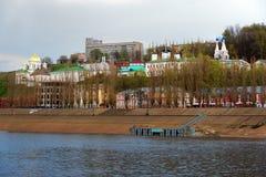 Άποψη Annunciation του μοναστηριού σε Nizhny Novgorod Στοκ φωτογραφία με δικαίωμα ελεύθερης χρήσης