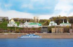 Άποψη Annunciation του μοναστηριού σε Nizhny Novgorod Στοκ Εικόνα