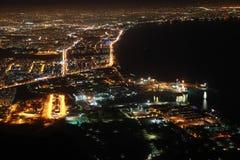 Άποψη Antalya από Tunektepe τη νύχτα. Στοκ Εικόνες