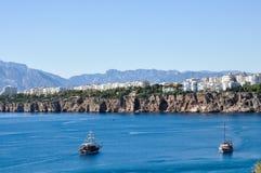 Άποψη Antalya και θάλασσας στοκ εικόνες