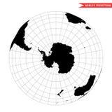 Άποψη Antarctida από το διάστημα στοκ εικόνες