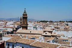 Άποψη Antequera στις στέγες Στοκ Εικόνες