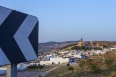 Άποψη Antequera Alcazaba, μαυριτανικό φρούριο, Ισπανία Στοκ Φωτογραφίες