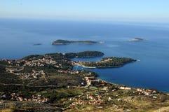 Άποψη Arial της πόλης Cavtat στοκ φωτογραφίες