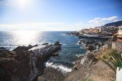 Άποψη Arial του θαλάσσιου λιμένα Puerto de Σαντιάγο και της παραλίας, Tenerife Στοκ φωτογραφίες με δικαίωμα ελεύθερης χρήσης