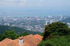 Άποψη Arial του νησιού Penang από την κορυφή των λόφων Penang Στοκ φωτογραφία με δικαίωμα ελεύθερης χρήσης