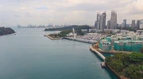 Άποψη Arial του τελικού λιμένα φορτίου της Σιγκαπούρης Στοκ Εικόνες