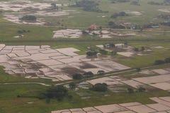 Άποψη Arial Yangon Στοκ εικόνα με δικαίωμα ελεύθερης χρήσης