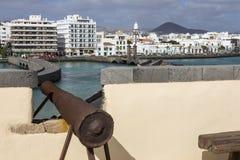 Άποψη Arrecife από Castillo de SAN Gabriel Στοκ Εικόνες