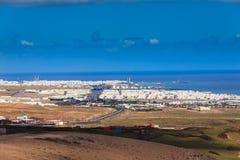 Άποψη Arrecife, η πρωτεύουσα Lanzarote Στοκ Εικόνες