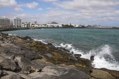 Άποψη Arrecife σε Lanzarote Στοκ Φωτογραφίες