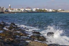 Άποψη Arrecife σε Lanzarote Στοκ φωτογραφίες με δικαίωμα ελεύθερης χρήσης