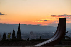 Άποψη Assisi Στοκ φωτογραφίες με δικαίωμα ελεύθερης χρήσης