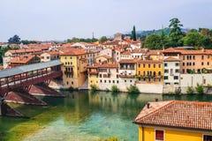 Άποψη Bassano del Grappa, περιοχή του Βένετο, της Ιταλίας Δημοφιλής προορισμός ταξιδιού στοκ φωτογραφία
