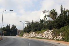 Άποψη Benalmadena Ισπανία Andalicia οδών Στοκ Φωτογραφία