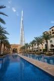 Άποψη Burj Khalifa το πιό ψηλό κτήριο στον κόσμο Στοκ φωτογραφία με δικαίωμα ελεύθερης χρήσης