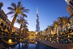 Άποψη Burj Khalifa το πιό ψηλό κτήριο στον κόσμο Στοκ Εικόνα