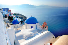 Άποψη caldera από Oia Santorini Ελλάδα Στοκ φωτογραφίες με δικαίωμα ελεύθερης χρήσης