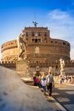 Άποψη Castel Sant'Angelo, Ρώμη Στοκ φωτογραφία με δικαίωμα ελεύθερης χρήσης