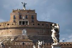 Άποψη Castel Sant Angelo στη Ρώμη, Ιταλία Στοκ φωτογραφία με δικαίωμα ελεύθερης χρήσης