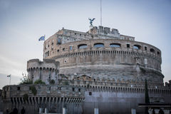 Άποψη Castel Sant'Angelo στη Ρώμη, Ιταλία Στοκ Φωτογραφίες