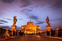 Άποψη Castel Sant'Angelo Στοκ εικόνες με δικαίωμα ελεύθερης χρήσης
