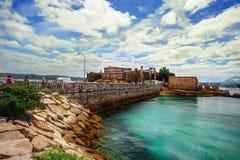 Άποψη Castelo de SAN Anton Ένα Coruña, Ισπανία Στοκ φωτογραφία με δικαίωμα ελεύθερης χρήσης