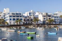 Άποψη Charco de SAN Gines Arrecife, Lanzarot Στοκ Εικόνα
