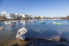 Άποψη Charco de SAN Gines Arrecife, Lanzarot Στοκ φωτογραφία με δικαίωμα ελεύθερης χρήσης