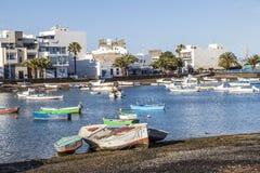 Άποψη Charco de SAN Gines Arrecife, Lanzarot Στοκ εικόνες με δικαίωμα ελεύθερης χρήσης
