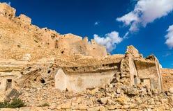 Άποψη Chenini, ένα ενισχυμένο χωριό Berber στη νότια Τυνησία Στοκ Εικόνες