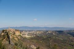 Άποψη Civita Di Bagnoregio στοκ φωτογραφία με δικαίωμα ελεύθερης χρήσης