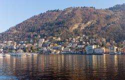 Άποψη Como lakefront, Ιταλία Στοκ φωτογραφία με δικαίωμα ελεύθερης χρήσης