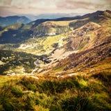 Άποψη Distante από Chopok, μια κορυφή βουνών σε χαμηλό Tatras στη Σλοβακία, Ευρώπη Στοκ φωτογραφία με δικαίωμα ελεύθερης χρήσης