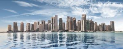 Άποψη Doha στοκ φωτογραφίες με δικαίωμα ελεύθερης χρήσης