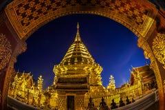 Άποψη Doi Suthep νύχτας Στοκ Φωτογραφία