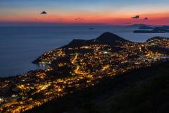 Άποψη Dubrovnik άνωθεν στο σούρουπο Στοκ εικόνες με δικαίωμα ελεύθερης χρήσης